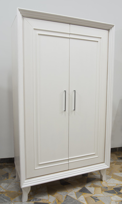 Two Doors White Wardrobe