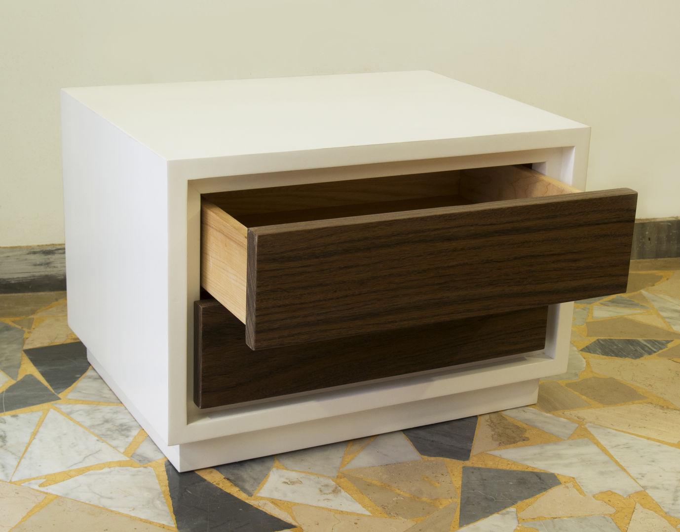 schlafzimmer set wei und nussbraun ebanisteria gambella. Black Bedroom Furniture Sets. Home Design Ideas