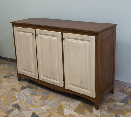 Cream and Walnut Sideboard
