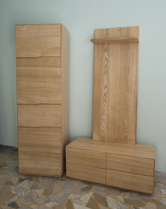 Hallway furniture group in ash wood