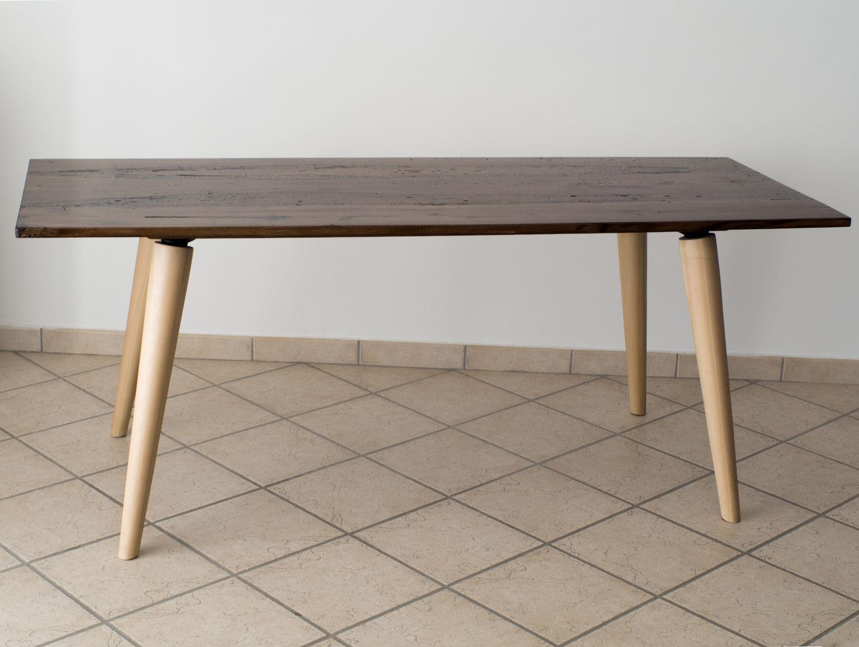 Tavolo anni 50 con legno di briccola | EBANISTERIA GAMBELLA