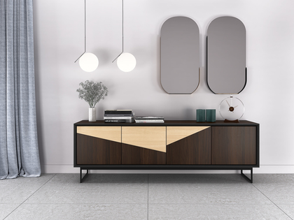 Modernes Sideboard in Walnuss-Holz