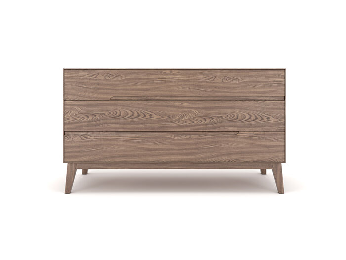 Minimal style dresser made from walnut wood